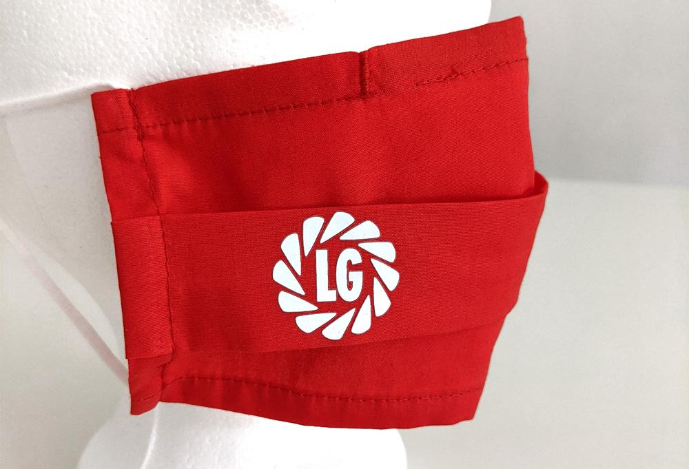 baumwollmaske mit logo